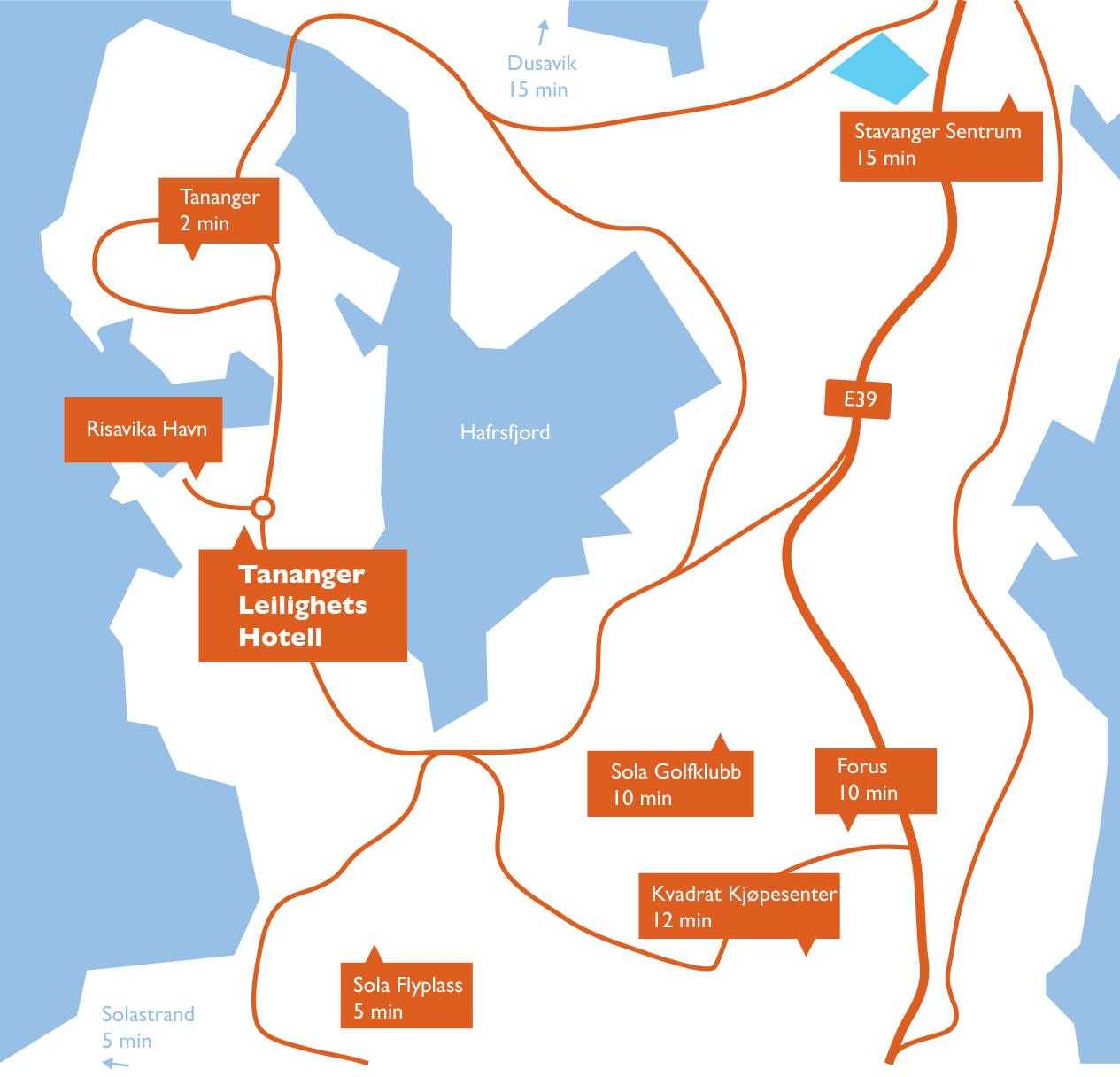 kart tananger Tananger Leilighets Hotell kart tananger